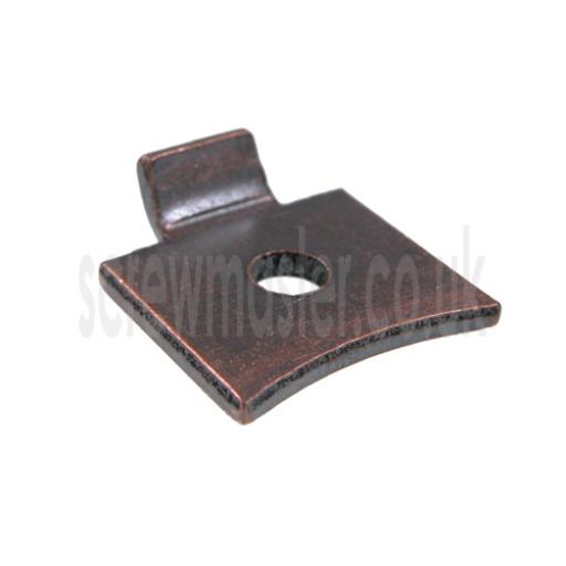 Flat Shelf Stud Bronze steel for library bookcase Tonk strip pack of 4