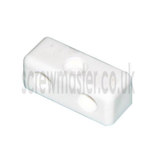 10 White Modesty Blocks for joining sheet materials and fitting modesty panels KD