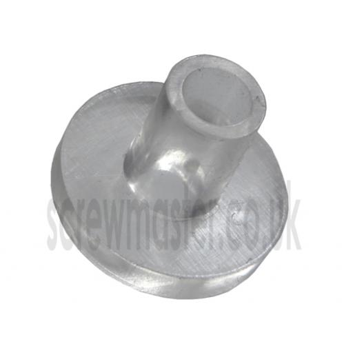 Flanged Spacer Sleeve Grommet Clear Plastic Cushion Glass for Mirror Screws