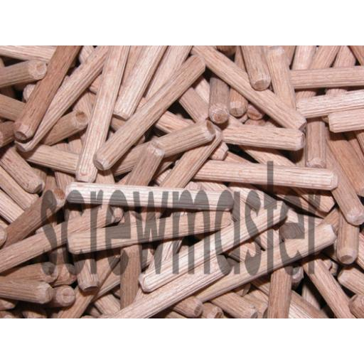 100 Fluted Dowels 5mm x 40mm beech hardwood jointing crafts