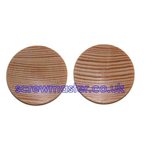 Solid Pine Cover Cap for 35mm hinge hole trim blanking plate