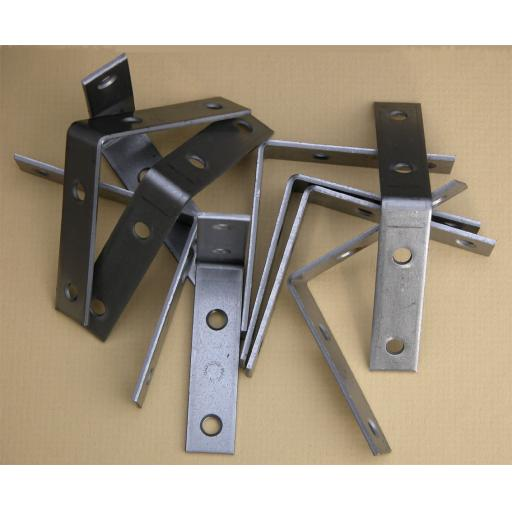 Angle Bracket 75mm x 75mm x 16mm wide x 1.6mm thick self colour mild steel
