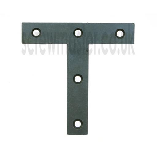 Tee Plate Brace flat 'T' shape Repair Bracket 75mm x 75mm Self Colour
