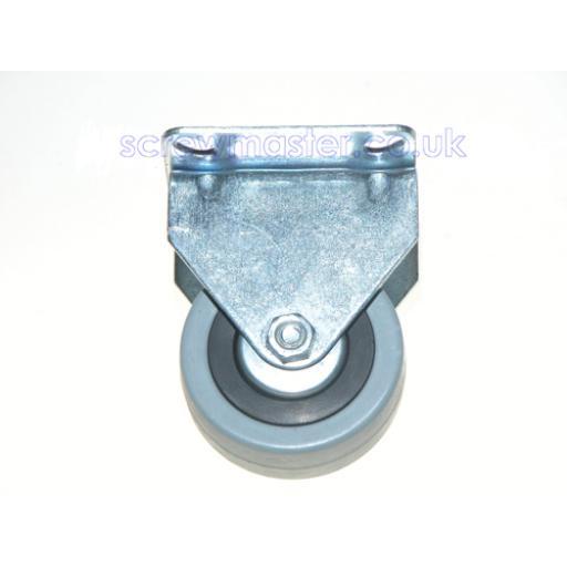 Industrial Castors 50mm Fixed Rubber Wheel