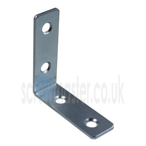 Angle Bracket 50mm x 50mm x 16mm wide x 1.6mm thick BZP mild steel Corner Brace
