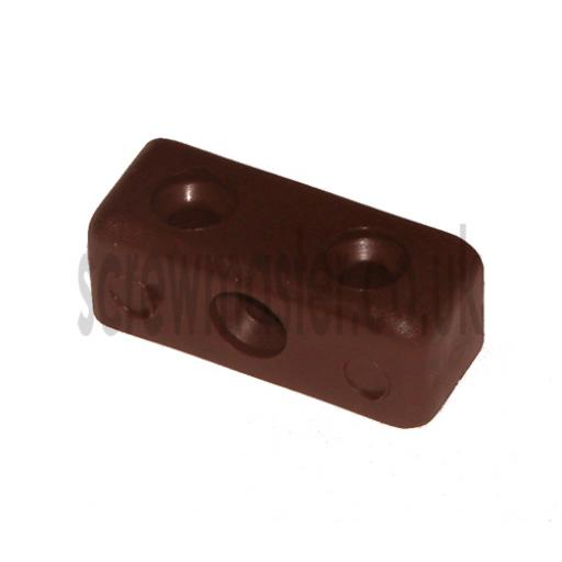 10 Brown Modesty Blocks for joining sheet materials and fitting modesty panels KD