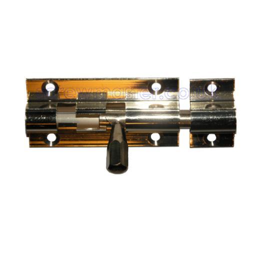Brass Barrel Bolt straight 50mm long x 25mm wide sliding lock security
