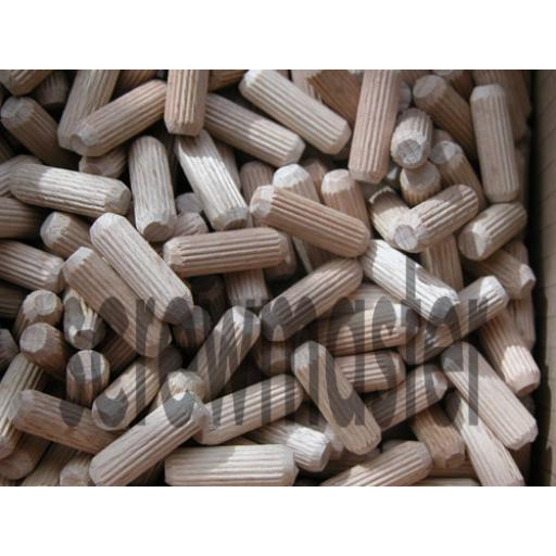 100 Fluted Dowels 8mm x 25mm beech hardwood jointing crafts
