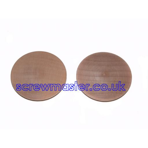 Solid Maple Cover Cap for 35mm hinge hole trim blanking plate
