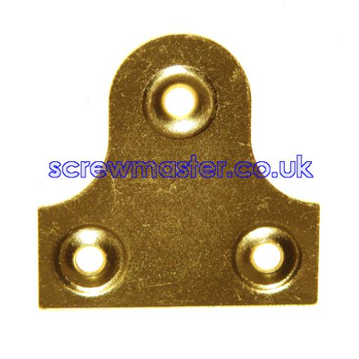 Plain Mirror Plate 50mm available in Brass or Chrome plated