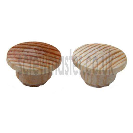 10 wooden hole plugs PINE 10mm diameter cover caps