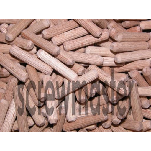 100 Fluted Dowels 5mm x 25mm beech hardwood jointing crafts
