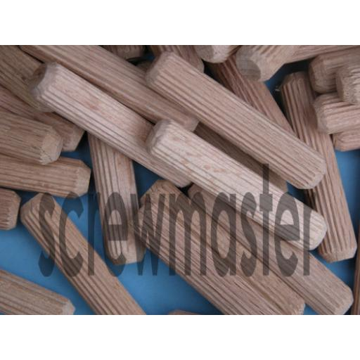 100 Fluted Dowels 10mm x 50mm beech hardwood jointing crafts