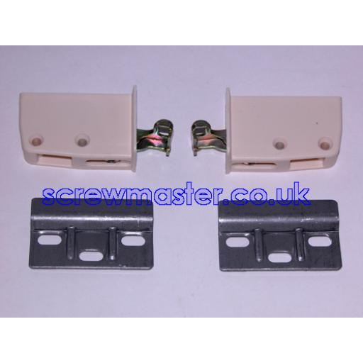 Pair of Cabinet Hangers - Screw mounting - cream colour