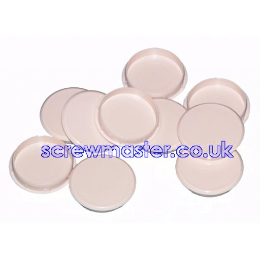 Beige Cover Cap for 35mm hinge hole trim blanking plate