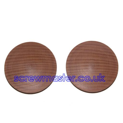 Solid Beech Cover Cap for 35mm hinge hole trim blanking plate