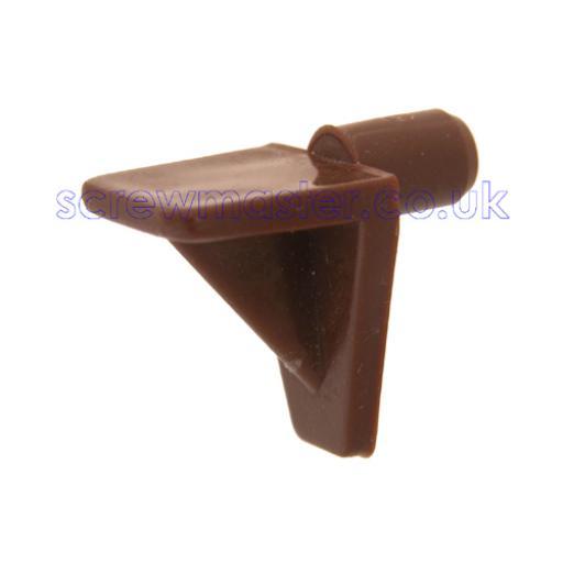 4 Brown Plastic Shelf Supports 5mm peg for adjustable shelves