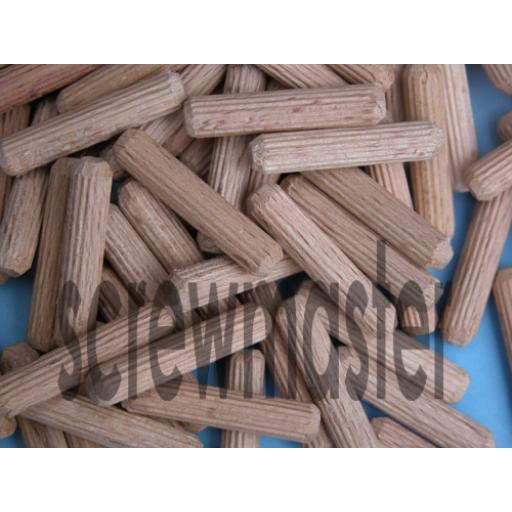 100 Fluted Dowels 6mm x 30mm beech hardwood jointing crafts