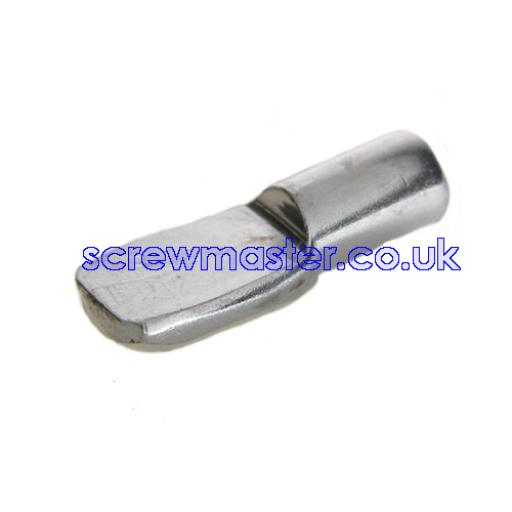 4 Spoon Shaped Shelf Supports 5mm peg Nickel finish for adjustable shelves