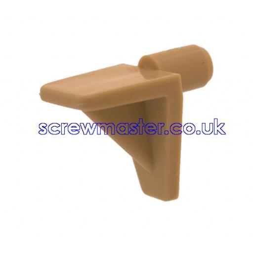 4 Beige Plastic Shelf Supports 5mm peg for adjustable shelves