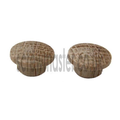 10 wooden hole plugs OAK 10mm diameter cover caps