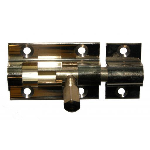 Brass Barrel Bolt straight 38mm long x 25mm wide sliding lock security