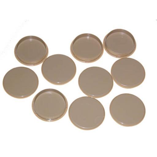 Light Oak Cover Cap for 35mm hinge hole trim blanking plate