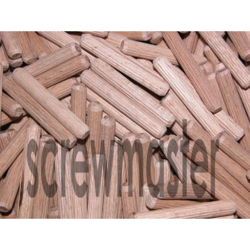 100 Fluted Dowels 6mm x 40mm beech hardwood jointing crafts