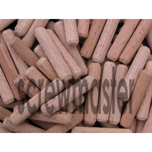 100 Fluted Dowels 10mm x 60mm beech hardwood jointing crafts