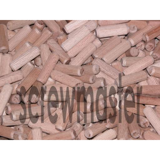 100 Fluted Dowels 12mm x 30mm beech hardwood jointing crafts