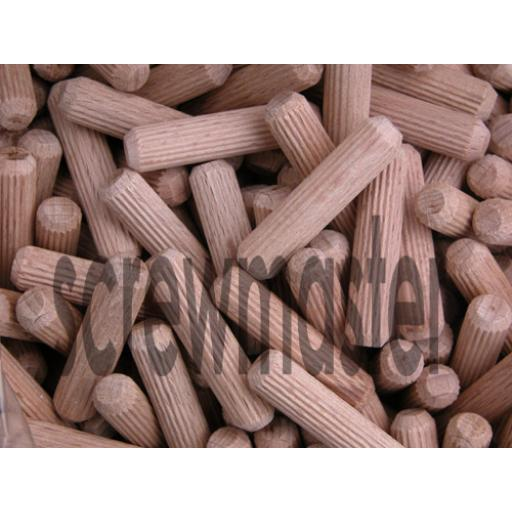 100 Fluted Dowels 8mm x 35mm beech hardwood jointing crafts