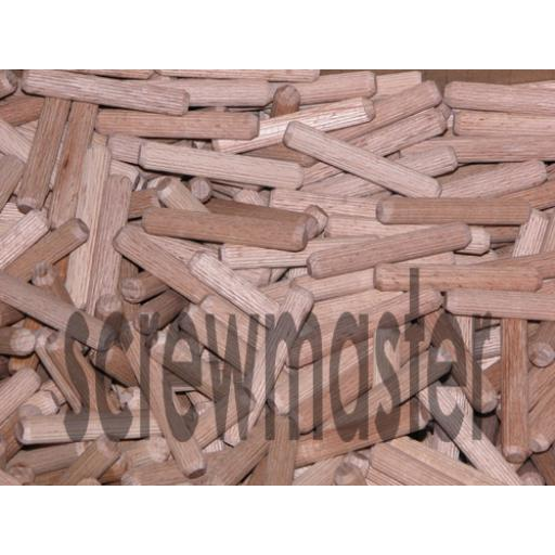 100 Fluted Dowels 8mm x 50mm beech hardwood jointing crafts