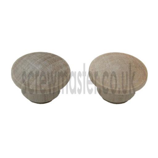 10 wooden hole plugs MAPLE 10mm diameter cover caps