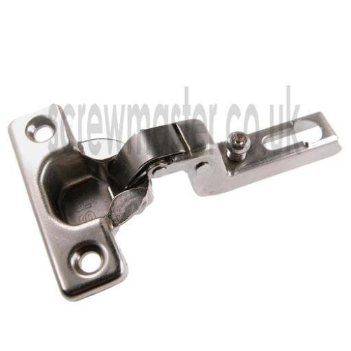 Pair of Concealed Mini Hinges slide on 92 degree opening sprung 26mm boss 15 crank for Inset Doors