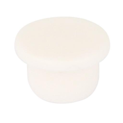 20 White Cover Caps 6mm diameter plugs holes blank kitchen cabinet