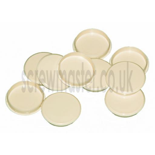 Cream Cover Cap for 35mm hinge hole trim blanking plate