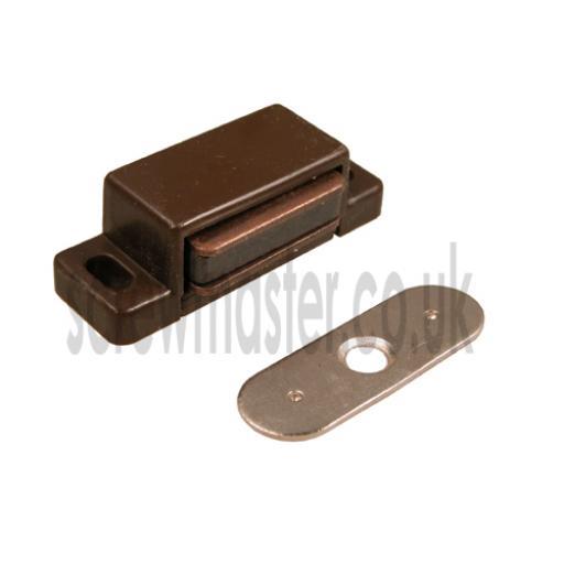 Brown Magnetic Catch for Bathroom Bedroom Kitchen Cabinet Cupboard Doors