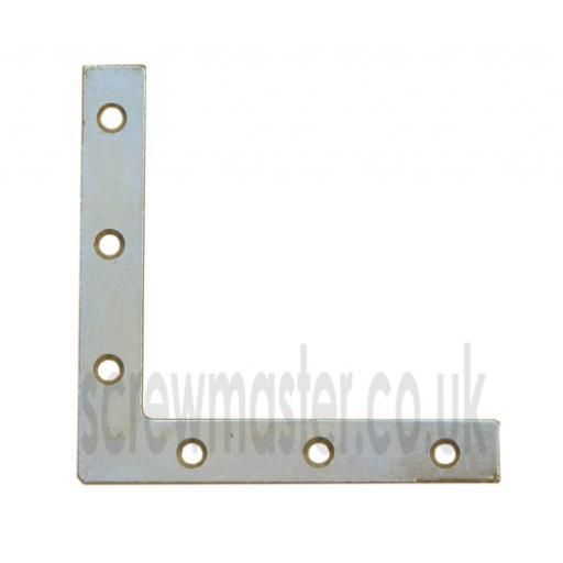 Angle Plate Corner Brace flat 'L' shape Repair Bracket 125mm x 125mm BZP