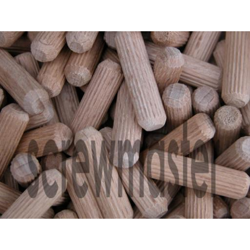 100 Fluted Dowels 8mm x 30mm beech hardwood jointing crafts