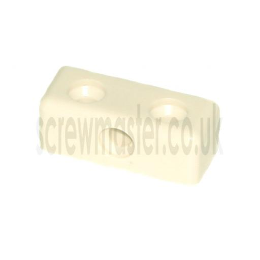 10 Cream Modesty Blocks for joining sheet materials and fitting modesty panels KD