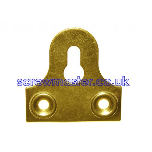 Keyhole Mirror Plate 50mm available in Brass or Chrome